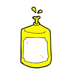 comic cartoon squirting bottle vector image
