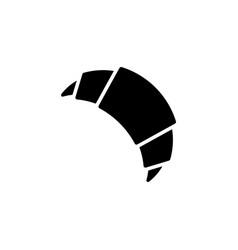 croissant black icon on white background vector image