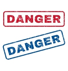 Danger Rubber Stamps vector image