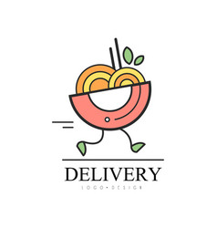 Delivery food logo food service fast delivery vector