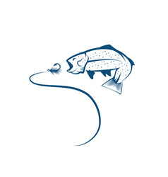 design template trout and lure vector image