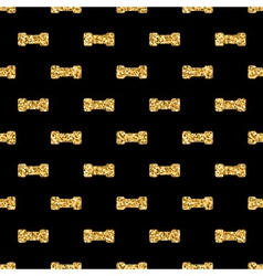 Dumbbell big geometric seamless pattern gold black vector image