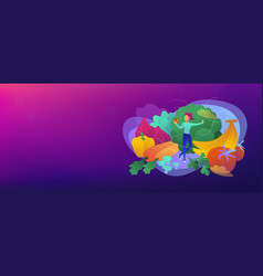 e-library header or footer banner vector image