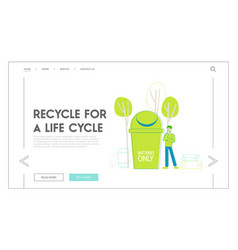 E-waste recycling nature protection landing page vector