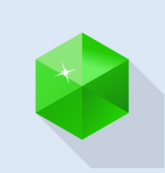 Emerald stone icon flat style vector
