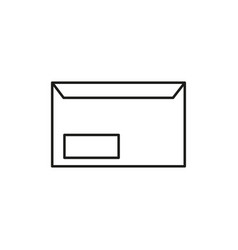 envelope icon vector image