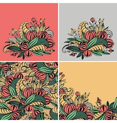 fancy flowers vector image