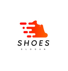 fast running man shoes logo design inspiration vector image