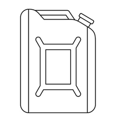 Flask for gasoline icon outline style vector image