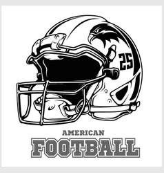 Football championship logo with ball sport vector