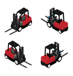 Forklifts reliable heavy loader truck heavy duty vector