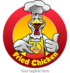 fried chicken symbol vector image