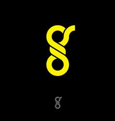 g monogram flat yellow letter vector image