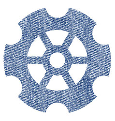 gear fabric textured icon vector image