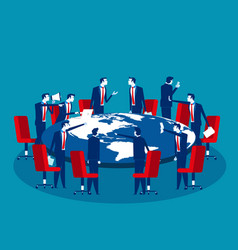 Global business meeting concept business vector