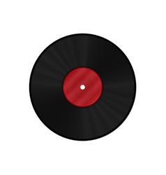 gramophone vinyl lp record template vector image