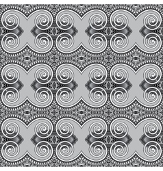 grey geometry vintage floral seamless pattern vector image