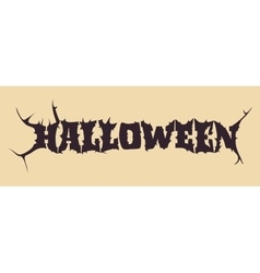 Halloween text calligraphy vector image