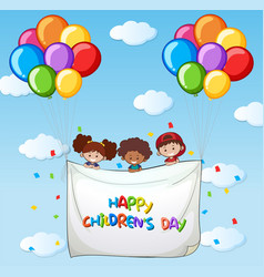 Happy childrens day template vector