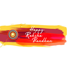 Happy raksha bandhan festival banner design vector
