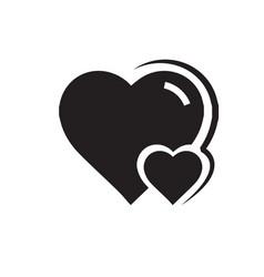 Heart amp mini icon black color vector