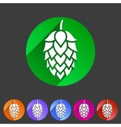 Hop beer sign icon flat web symbol logo label vector image