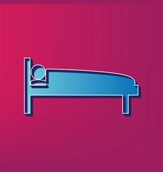 hospital sign blue 3d vector image