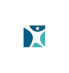 human square logo icon vector image