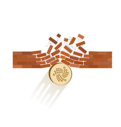 Iota coin breaks through the wall resistance vector