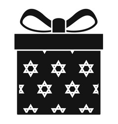 jewish gift box icon simple style vector image