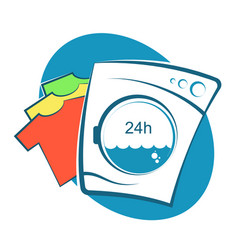 Laundry symbol for business vector