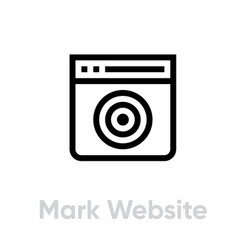 Mark website personal targeting icon editable vector