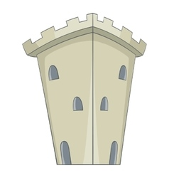 Medieval ancient fortress icon cartoon style vector image