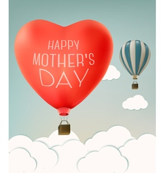 Mothers day over sky landscape background with air vector