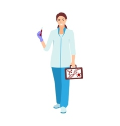 Nurse doctor character isolated vector
