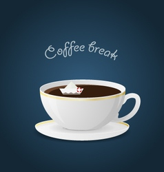 offee break Ceramic cup Hot beverage vector image