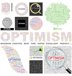 OPTIMISM vector image