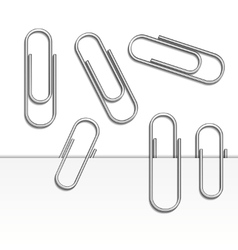 paperclips vector image