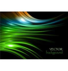 rainbow background new shape black green vector image