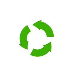 recycle icon garbage sorting symbol waste vector image