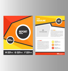 Red Orange Yellow annual report brochure flyer vector
