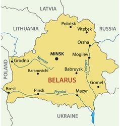 Republic of Belarus - map vector image