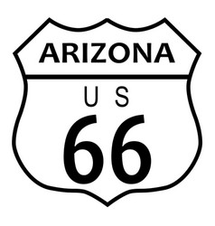 Route 66 arizona vector