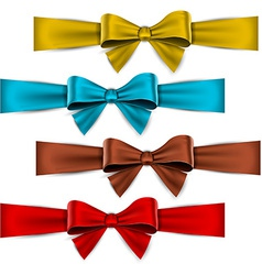 Satin color ribbons Gift bows vector image