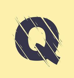 scribbled letter q vector image