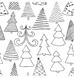 Seamless pattern of hand drawn sketch christmas vector