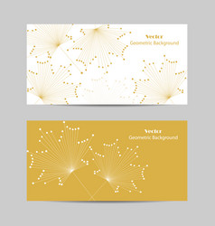 Set of horizontal banners abstract maple vector
