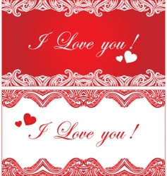 set of romantic background vector image