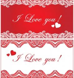 Set of romantic background vector