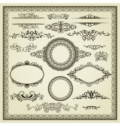 Set of vintage elements vector